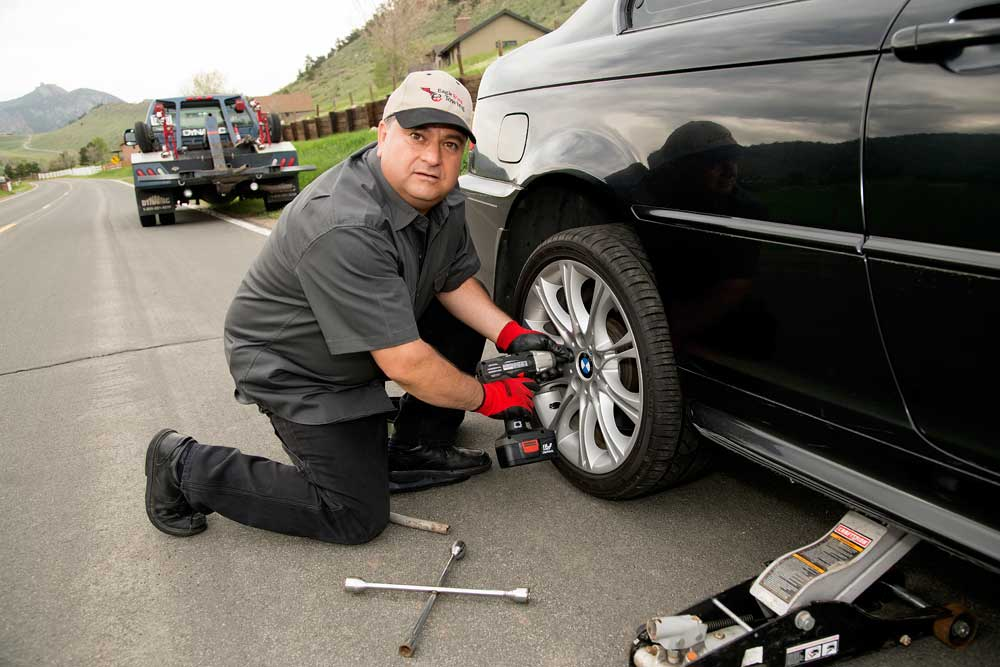 Road Side Flat Tire Repair